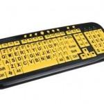 Радикально раскрашенная клавиатура, поможет лучше рассмотреть буквы