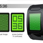 Optical Illusion LED Watch, наручные часы с зеленым лабиринтом, вместо циферблата