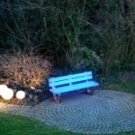 Светящаяся садовая скамейка