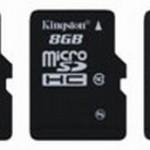 Скоростные microSD карты памяти от  Kingston