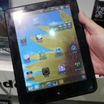 Цветная электронная книга ECS EB-850R работающая на Android