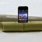 iBamboo Speaker  — бамбуковые колонки-усилитель для iPhone