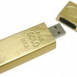 Золотая USB флешек