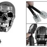 Жуткий настольный телефон в виде черепа