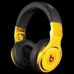 Золотые наушники Beats Pro by Dr. Dre
