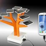 Зарядное устройство на солнечных батареях в виде дерева