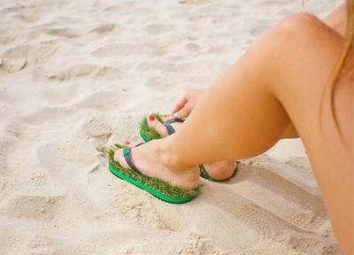Kusa Grass Flip Flops1