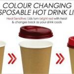 Умная крышка Smart Lid показывает температура напитков, меняя цвет