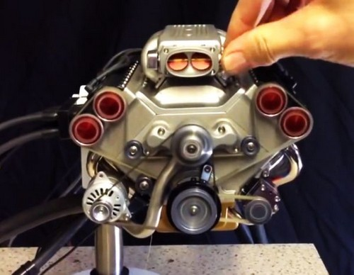 Smallest electronically fuel injected engine