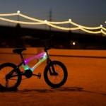 Детский велосипед с прозрачной рамой со светодиодной подсветкой