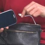 Женская сумка со встроенным внешним аккумулятором для подзарядки мобильных телефонов