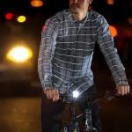 Рубашка со светящимися полосками в темноте для велосипедистов