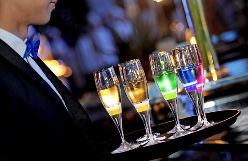 Ivation LED Light-Up Champagne Flutes