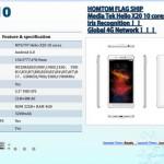 Смартфон HomTom HT10 будет собран на базе процессора Mediatek Helio X20