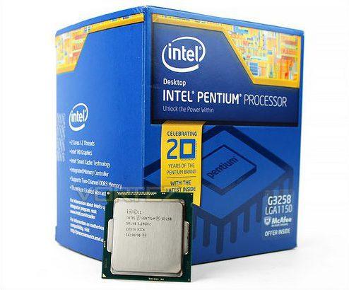 Intel Pentium K Anniversary Edition G3258