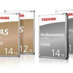 Toshiba анонсировали 12 и 14 терабайтные жесткие диски серии Toshiba N300 и X300