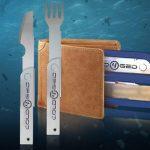 Походный набор Forkanife из вилки и ножа из нержавеющей стали станет хорошей альтернативой пластиковой посуде